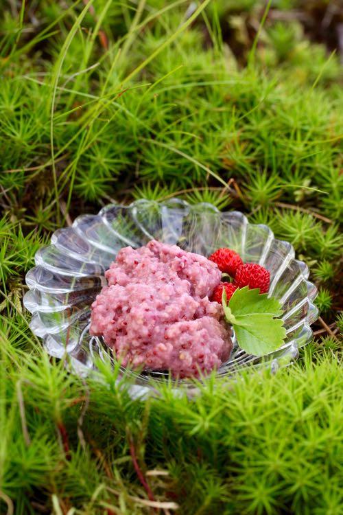 mansikka-kauranaamio